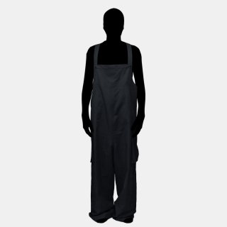 my beautiful landlet<br>cotton linen overall (BLACK)