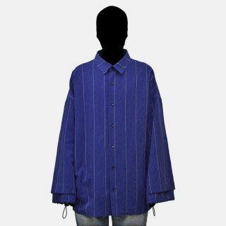 my beautiful landlet<br>cotton linen big shirt (CHECK)