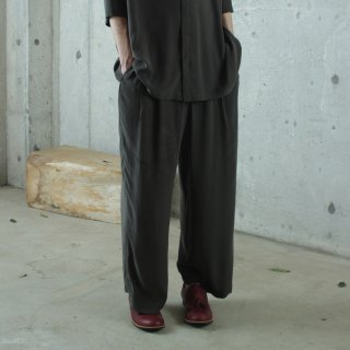 ohta<br>dark green wide pants