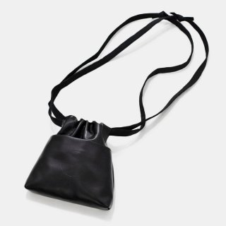 COSMIC WONDER<br>Light leather ribbon drawstring bag