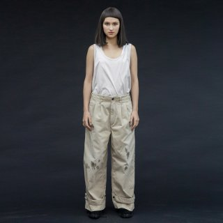 my beautiful landlet<br>chino tuck wide pants (PAINT)