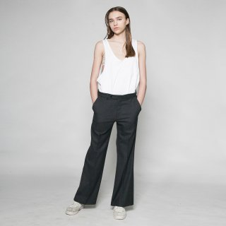 VOAAOV<br>washable wool boot cut pants