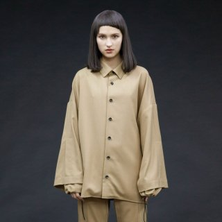 my beautiful landlet<br>twill wool double arm shirt