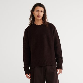 STUDIO NICHOLSON<br>WASHED WOOL POLY CREW NECK KNIT<img class='new_mark_img2' src='https://img.shop-pro.jp/img/new/icons2.gif' style='border:none;display:inline;margin:0px;padding:0px;width:auto;' />