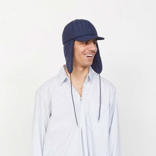 CAMIEL FORTGENS<br>Cap with flap Polyester Blue