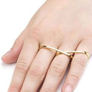 Vide Harslof<br>lily 3 finger ring  GOLD