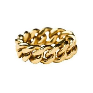 Vide Harslof<br>elsa chain ring medium GOLD