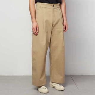 STUDIO NICHOLSON<br> PEACHED COTTON VOLUME PLEAT PANTS<img class='new_mark_img2' src='https://img.shop-pro.jp/img/new/icons2.gif' style='border:none;display:inline;margin:0px;padding:0px;width:auto;' />