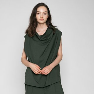 VOAAOV<br>WASHABLE WOOL DRAPE VEST