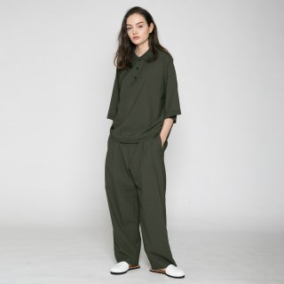 VOAAOV<br>WASHABLE WOOL WIDE PANTS