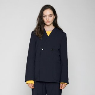 VOAAOV<br>WASHABLE WOOL NOCOLLAR JACKET<img class='new_mark_img2' src='https://img.shop-pro.jp/img/new/icons2.gif' style='border:none;display:inline;margin:0px;padding:0px;width:auto;' />
