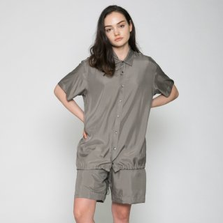 VOAAOV<br>CUPRO DYED TWILL H/S SHIRTS<img class='new_mark_img2' src='https://img.shop-pro.jp/img/new/icons2.gif' style='border:none;display:inline;margin:0px;padding:0px;width:auto;' />