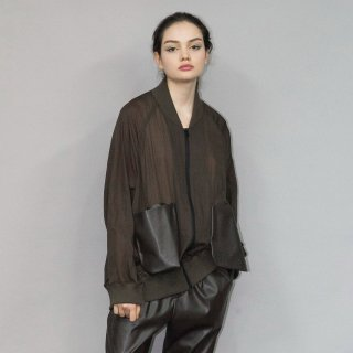 my beautiful landlet<br>NYLON × FAKE LEATHER BLOUSON<img class='new_mark_img2' src='https://img.shop-pro.jp/img/new/icons2.gif' style='border:none;display:inline;margin:0px;padding:0px;width:auto;' />