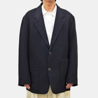 STUDIO NICHOLSON<br>DOUBLE VISCOSE WOOL SOFT TAILORED JACKET<img class='new_mark_img2' src='https://img.shop-pro.jp/img/new/icons2.gif' style='border:none;display:inline;margin:0px;padding:0px;width:auto;' />