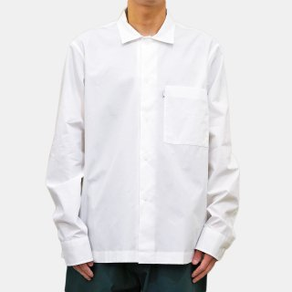 STUDIO NICHOLSON<br>POWDER COTTON LONG SLEEVE SHIRT