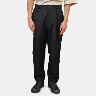 ATON<br>WOOL LINEN EASY TAPERED PANTS