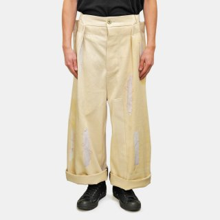 MAREUNROL'S<br>Trousers with insulation tape print