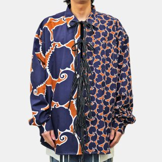 Dhruv Kapoor<br>DOUBLE PRINT TIE UP SHIRT<img class='new_mark_img2' src='https://img.shop-pro.jp/img/new/icons2.gif' style='border:none;display:inline;margin:0px;padding:0px;width:auto;' />