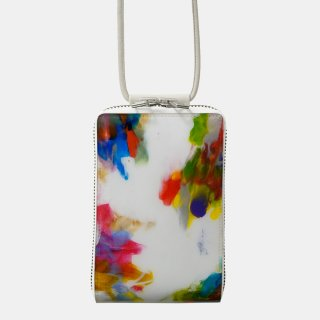 macromauro<br>SHOULDER WALLET / paint white(A)<img class='new_mark_img2' src='https://img.shop-pro.jp/img/new/icons2.gif' style='border:none;display:inline;margin:0px;padding:0px;width:auto;' />