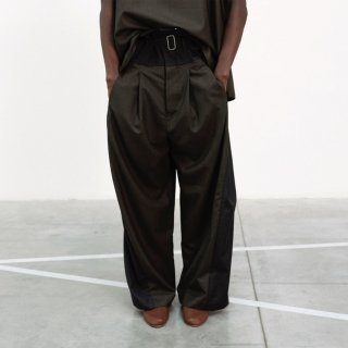 HED MAYNER<br>WIDE PLEATED PANT GRY/BRW<img class='new_mark_img2' src='https://img.shop-pro.jp/img/new/icons2.gif' style='border:none;display:inline;margin:0px;padding:0px;width:auto;' />