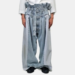 HED MAYNER<br>WIDE BELTED DENIM<img class='new_mark_img2' src='https://img.shop-pro.jp/img/new/icons53.gif' style='border:none;display:inline;margin:0px;padding:0px;width:auto;' />
