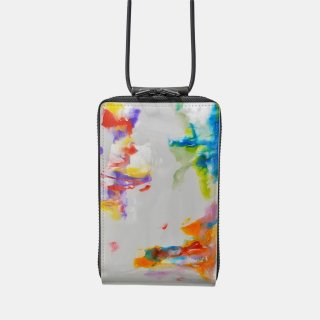 macromauro<br>SHOULDER WALLET / paint gray(G)<img class='new_mark_img2' src='https://img.shop-pro.jp/img/new/icons2.gif' style='border:none;display:inline;margin:0px;padding:0px;width:auto;' />