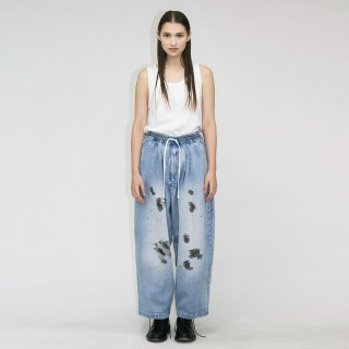 my beautiful landlet<br>10.5oz DENIM WIDE EASY PANTS (PAINT)<img class='new_mark_img2' src='https://img.shop-pro.jp/img/new/icons2.gif' style='border:none;display:inline;margin:0px;padding:0px;width:auto;' />