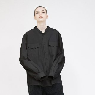 VOAAOV<br>Organic Cotton Broad Collarless shirt<img class='new_mark_img2' src='https://img.shop-pro.jp/img/new/icons2.gif' style='border:none;display:inline;margin:0px;padding:0px;width:auto;' />