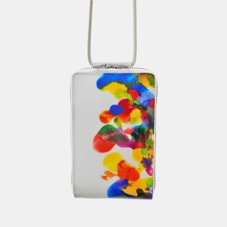 macromauro<br>SHOULDER WALLET / paint white(C)<img class='new_mark_img2' src='https://img.shop-pro.jp/img/new/icons2.gif' style='border:none;display:inline;margin:0px;padding:0px;width:auto;' />