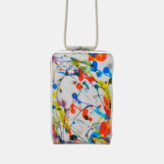 macromauro<br>SHOULDER WALLET / paint white(D)<img class='new_mark_img2' src='https://img.shop-pro.jp/img/new/icons2.gif' style='border:none;display:inline;margin:0px;padding:0px;width:auto;' />