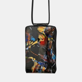 macromauro<br>SHOULDER WALLET / paint black(B)<img class='new_mark_img2' src='https://img.shop-pro.jp/img/new/icons2.gif' style='border:none;display:inline;margin:0px;padding:0px;width:auto;' />