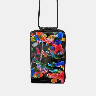 macromauro<br>SHOULDER WALLET / paint black(C)<img class='new_mark_img2' src='https://img.shop-pro.jp/img/new/icons2.gif' style='border:none;display:inline;margin:0px;padding:0px;width:auto;' />