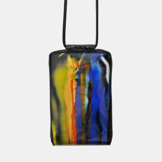 macromauro<br>SHOULDER WALLET / paint black(D)<img class='new_mark_img2' src='https://img.shop-pro.jp/img/new/icons2.gif' style='border:none;display:inline;margin:0px;padding:0px;width:auto;' />