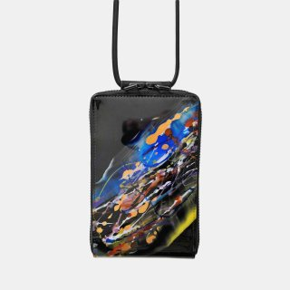 macromauro<br>SHOULDER WALLET / paint black(E)<img class='new_mark_img2' src='https://img.shop-pro.jp/img/new/icons2.gif' style='border:none;display:inline;margin:0px;padding:0px;width:auto;' />