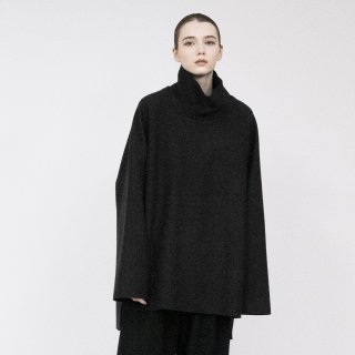VOAAOV<br>Wool Ring Jersey Hight-neck tops