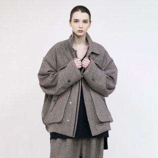 VOAAOV<br>Soft Wool Twill Blouson