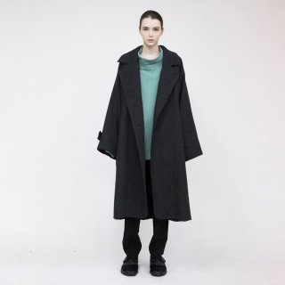 VOAAOV<br>Yabure Oil Cut Wool Long Coat<img class='new_mark_img2' src='https://img.shop-pro.jp/img/new/icons2.gif' style='border:none;display:inline;margin:0px;padding:0px;width:auto;' />