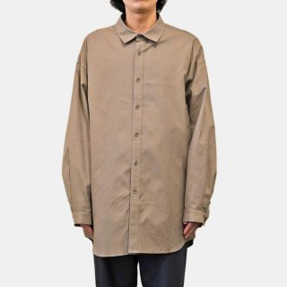 ATON<br>COTTON CASHMERE OXFORD OVERSIZED LONG SHIRT<img class='new_mark_img2' src='https://img.shop-pro.jp/img/new/icons2.gif' style='border:none;display:inline;margin:0px;padding:0px;width:auto;' />