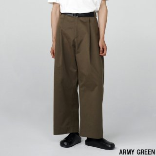 STUDIO NICHOLSON<br>PEACHED COTTON TWILL VOLUME PLEAT PANTS<img class='new_mark_img2' src='https://img.shop-pro.jp/img/new/icons2.gif' style='border:none;display:inline;margin:0px;padding:0px;width:auto;' />