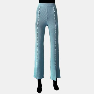 soduk<br>colored stitch slit knit trousers<img class='new_mark_img2' src='https://img.shop-pro.jp/img/new/icons2.gif' style='border:none;display:inline;margin:0px;padding:0px;width:auto;' />