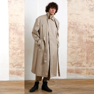MAREUNROL'S<br>Trench Coats cotton vest with a separate sleeve jacket