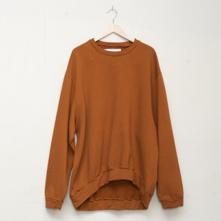 CAMIEL FORTGENS<br>Curved oversized crew neck sweater
