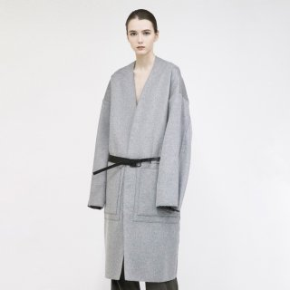 VOAAOV<br>Wool × Nylon Long Belt Cardigan