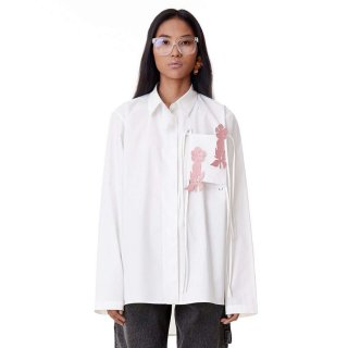 Dhruv Kapoor<br>PATCHED PYJAMA SHIRT<img class='new_mark_img2' src='https://img.shop-pro.jp/img/new/icons2.gif' style='border:none;display:inline;margin:0px;padding:0px;width:auto;' />