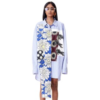 Dhruv Kapoor<br>PATCHWORK MEGA SHIRT<img class='new_mark_img2' src='https://img.shop-pro.jp/img/new/icons2.gif' style='border:none;display:inline;margin:0px;padding:0px;width:auto;' />