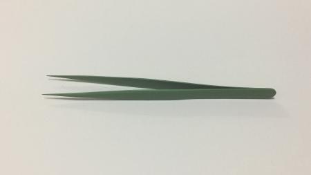 まつげエクステストレートツイザー 13.5cm 緑