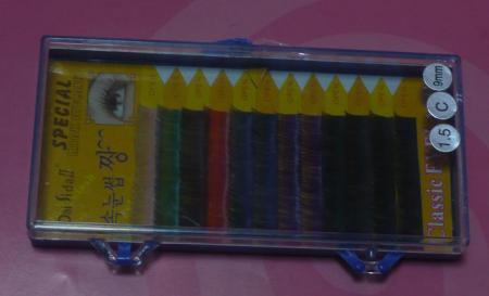 お値下げ カラー7色ミックス 0.15mm Cカール 9mm 11mm