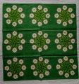 70年代 フローソ製 クロス 緑地・マーガレット9連