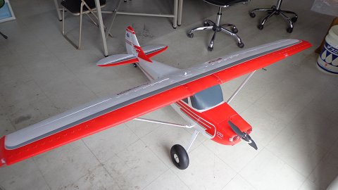 "<img class='new_mark_img1' src='https://img.shop-pro.jp/img/new/icons17.gif' style='border:none;display:inline;margin:0px;padding:0px;width:auto;' />87""Cessna170 3D 6Sリポ付 送受信機レス 新同品画像2"