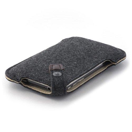 ハンドメイドフェルトケース for iPhone ブラック